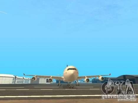 Airbus A340-300 Qantas Airlines для GTA San Andreas вид сверху