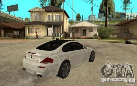 BMW M6 Coupe V 2010 для GTA San Andreas вид справа