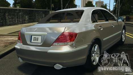 Honda Acura RL для GTA 4 вид сзади слева