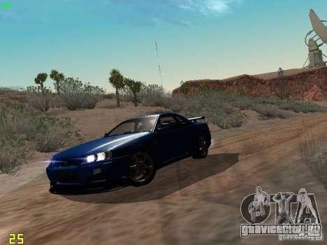 Nissan Skyline GT-R R34 V-Spec для GTA San Andreas вид слева