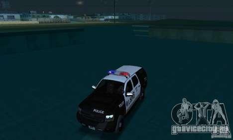 Chevrolet Suburban 2007 LSPD для GTA San Andreas вид сбоку
