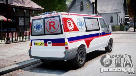 Ford Transit Polish Ambulance [ELS] для GTA 4 вид изнутри