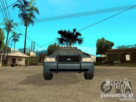 2003 Ford Crown Victoria Gotham City Police Unit для GTA San Andreas вид справа