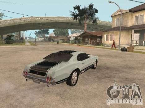SabreGT из GTA 4 для GTA San Andreas вид справа