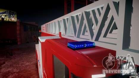 Scania Fire Ladder v1.1 Emerglights blue-red ELS для GTA 4