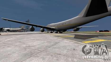 Real Emirates Airplane Skins Gold для GTA 4 вид слева