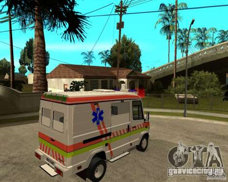 Mercedes-Benz Vario 512 D Ambulamce для GTA San Andreas вид сзади слева
