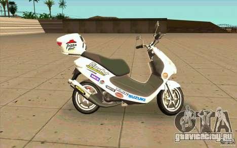 Suzuki Addres для GTA San Andreas вид слева