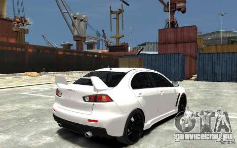 Mitsubishi Lancer Evo X v.1.0 для GTA 4 вид справа