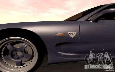 Mazda RX-7 Hellalush для GTA San Andreas вид сбоку