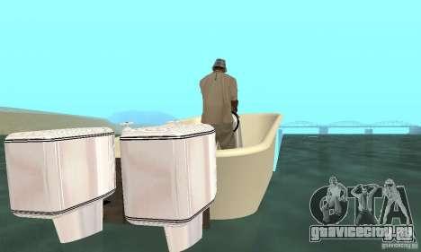 Bathtub Dinghy для GTA San Andreas вид сзади слева