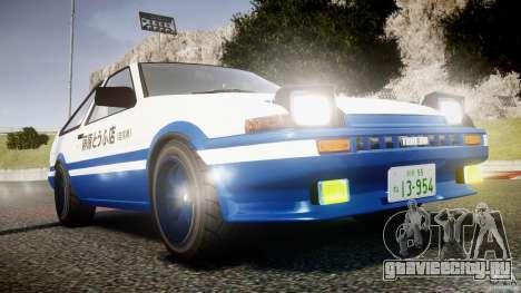 Toyota Trueno AE86 Initial D для GTA 4 вид сбоку