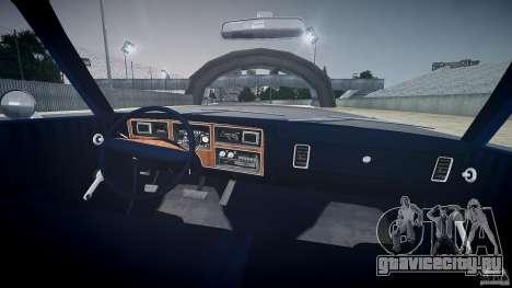 Dodge Aspen v1.1 1979 для GTA 4 вид сверху