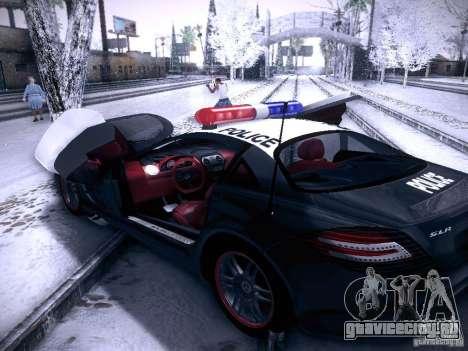 Mercedes-Benz SRL 722 Police для GTA San Andreas вид сзади