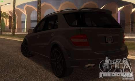 Mercedes-Benz ML63 AMG Brabus для GTA San Andreas вид сзади слева