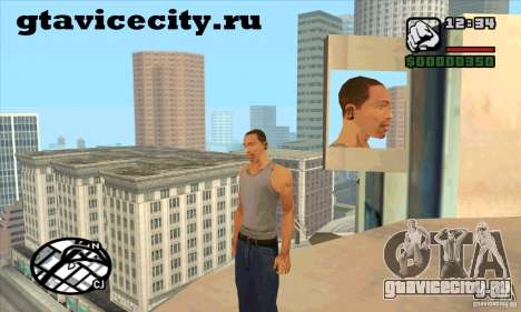 Пирсинг мод + белый CJ для GTA San Andreas второй скриншот