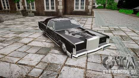Lincoln Continental Town Coupe v1.0 1979 для GTA 4 вид изнутри