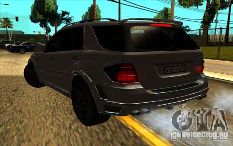 Mercedes-Benz ML63 AMG W165 Brabus для GTA San Andreas вид сбоку