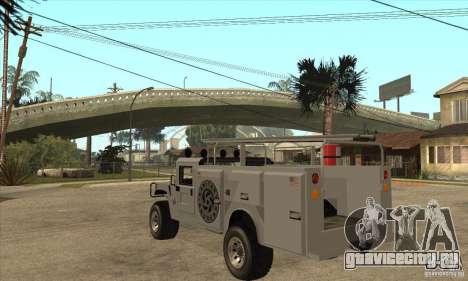 Hummer H1 Utility Truck для GTA San Andreas вид сзади слева