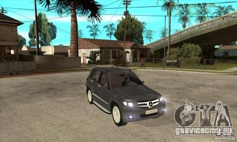 Mercedes Benz GLK300 для GTA San Andreas вид сзади