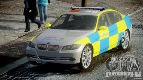 BMW 350i Indonesian Police Car [ELS] для GTA 4 вид сзади