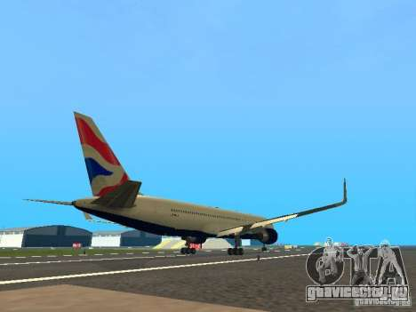 Boeing 767-300 British Airways для GTA San Andreas вид справа