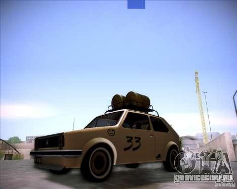 Volkswagen Golf MK1 rat style для GTA San Andreas вид сзади слева