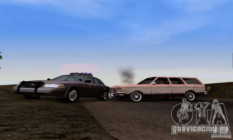 Ford Crown Victoria Mississippi Police для GTA San Andreas вид сзади