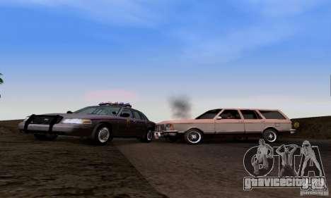 Ford Crown Victoria Mississippi Police для GTA San Andreas вид сзади