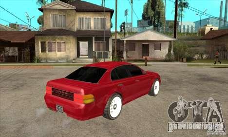 GTA IV Intruder для GTA San Andreas вид справа