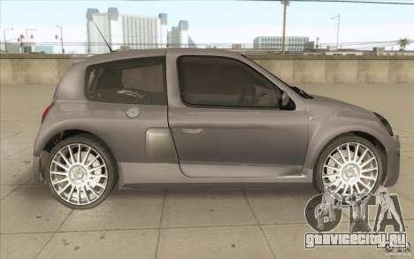Renault Clio V6 для GTA San Andreas вид изнутри