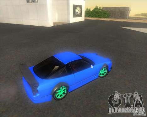 Nissan 240SX for drift для GTA San Andreas вид изнутри