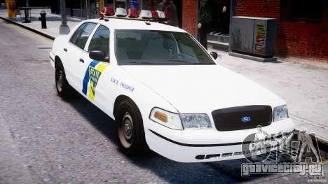 Ford Crown Victoria New Jersey State Police для GTA 4 вид снизу