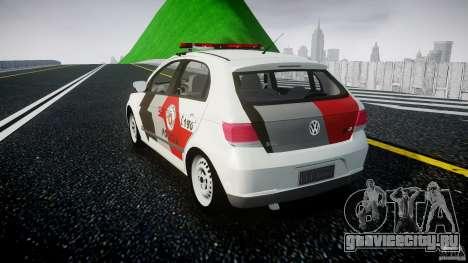 Volkswagen Gol G5 PMSP [ELS] для GTA 4 вид сзади слева