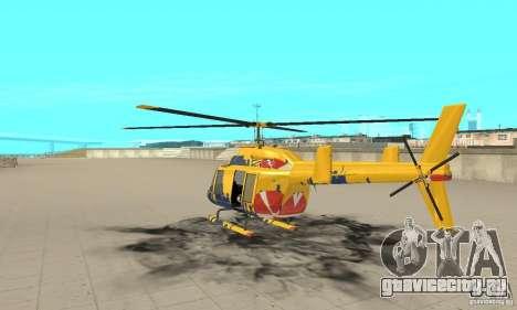 Экскурсионный вертолёт из gta 4 для GTA San Andreas вид сзади слева