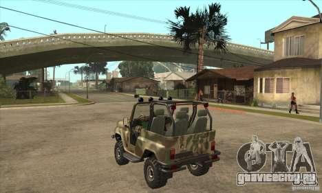 УАЗ 3150 шалун для GTA San Andreas вид сзади слева