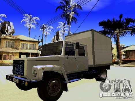 ГАЗ 3309 Егерь для GTA San Andreas вид сбоку