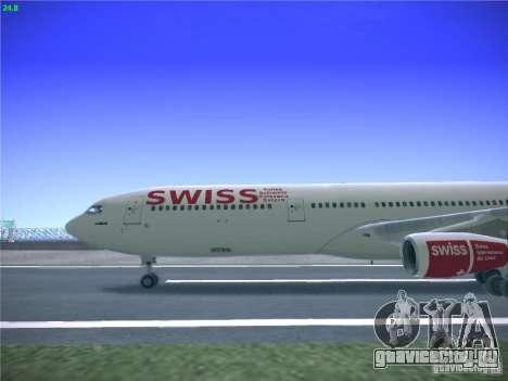 Airbus A340-300 Swiss International Airlines для GTA San Andreas вид слева
