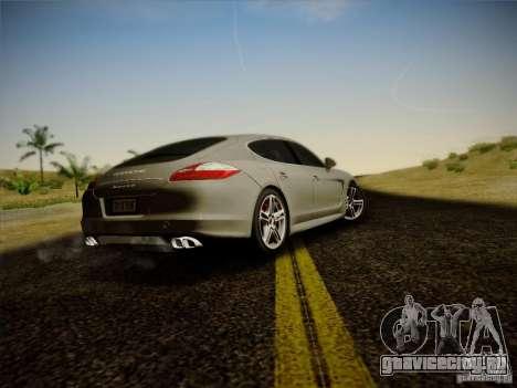 Porsche Panamera Turbo 2010 для GTA San Andreas вид справа
