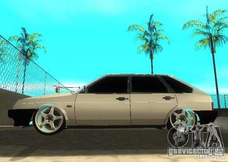 Ваз 2109 ак-47 для GTA San Andreas вид изнутри