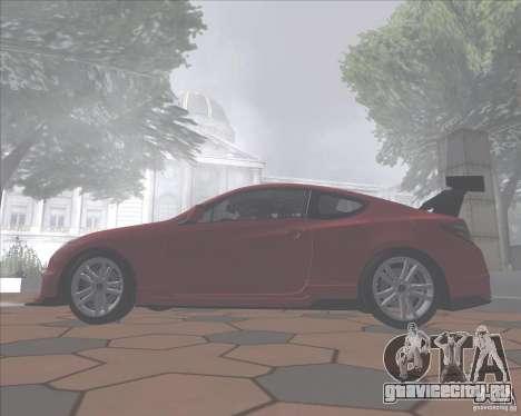 Hyundai Genesis Coupe для GTA San Andreas вид сзади