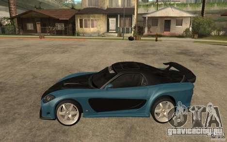 Mazda RX 7 VeilSide для GTA San Andreas вид изнутри