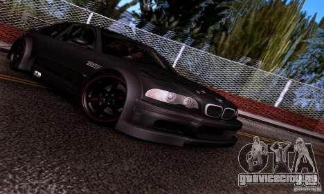 BMW M3 GTR v2.0 для GTA San Andreas вид изнутри
