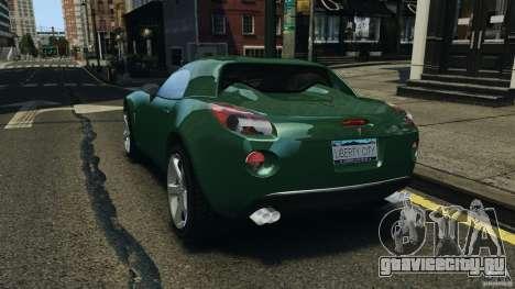Pontiac Solstice 2009 для GTA 4 вид сзади слева