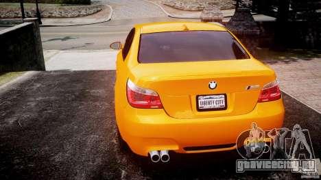 BMW M5 E60 для GTA 4 вид сзади слева