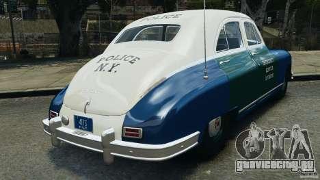 Packard Eight Police 1948 для GTA 4 вид сзади слева