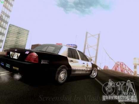 Ford Crown Victoria Los Angeles Police для GTA San Andreas вид справа