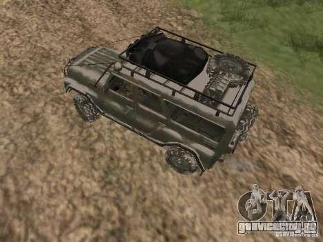 УАЗ-31519 из COD MW2 для GTA San Andreas вид справа