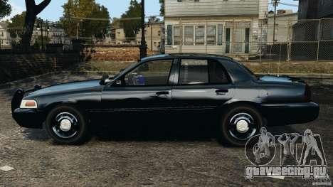 Ford Crown Victoria Police Unit [ELS] для GTA 4 вид слева