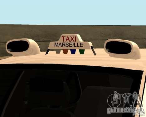 Peugeot 406 Taxi 2 для GTA San Andreas вид сзади